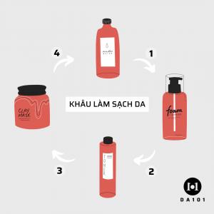 làm sạch da để không làm da sần sùi
