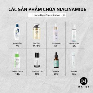 sản phẩm chứa niacinamide