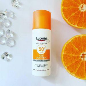 Kem chống nắng cho da dầu mụn - Eucerin Oil Control Sun Gel Cream Dry Touch SPF50