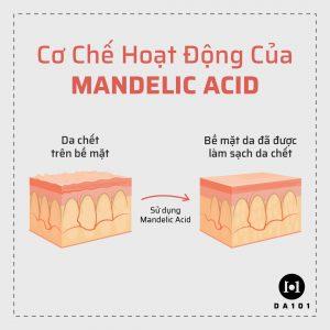 Cách hoạt động của Mandelic Acid